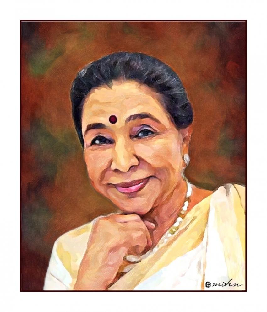 Asha Bhosle by lapsiyaji